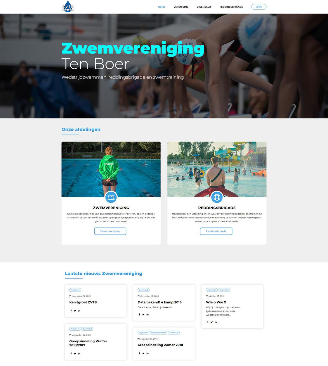 Sportclub website laten maken Groningen