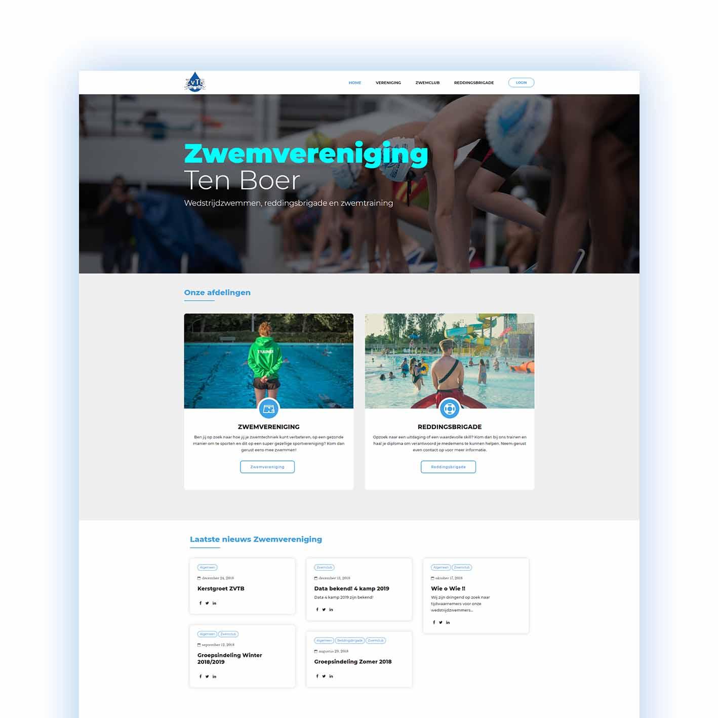 ZVTB website uit Groningen
