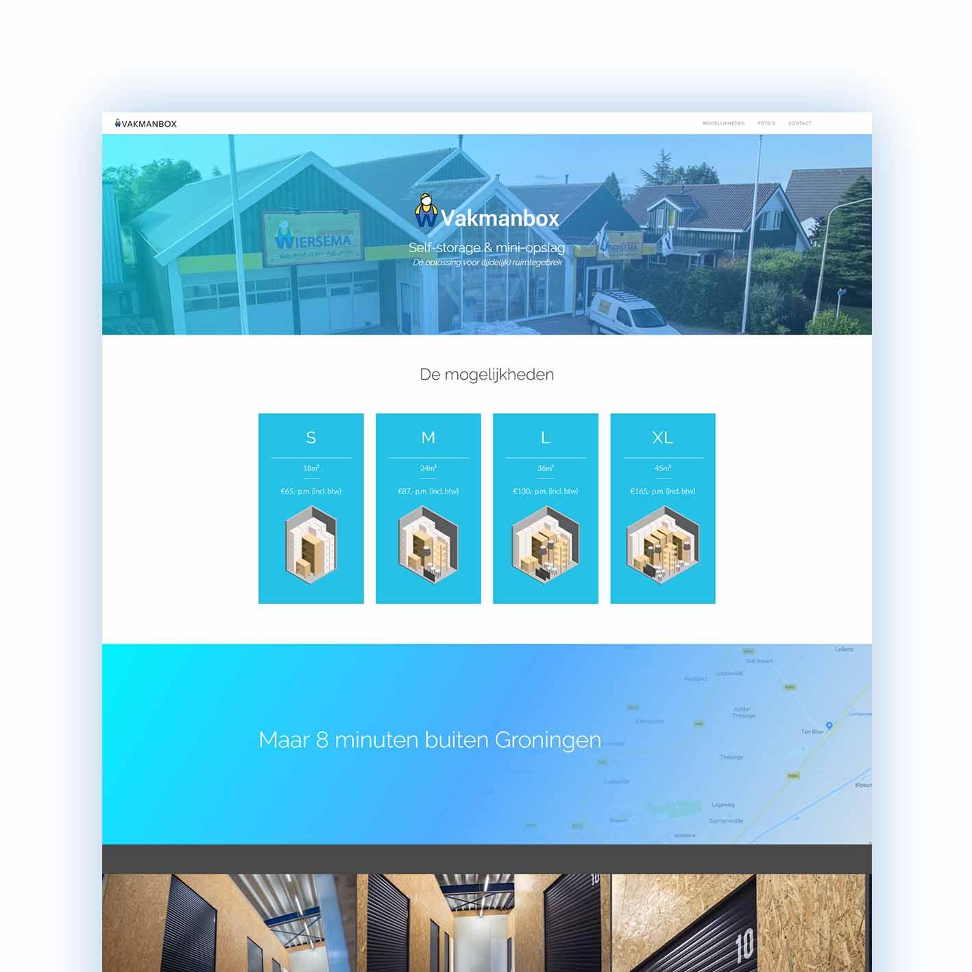 one-page bedrijfswebsite Groningen