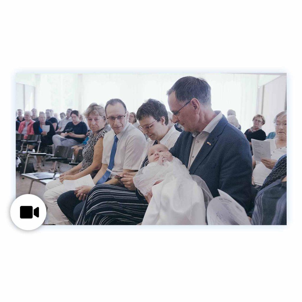 Baby Doop dopen video filmen ceremonie Jur Wiersema